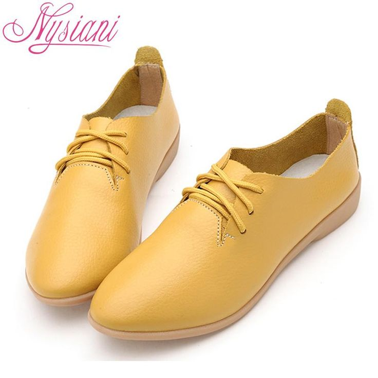 Nysiani Split Leather Oxford Shoes For Women Pointed Toe Casual Nurse Shoes Autumn Flat With Leather Women Loafers Shoes 2017 $45.99   #pretty #love #stylish #glam #fashionista #sweet #dress #style #instafashion #model #streetstyle #iwant #cool #beautiful #ootd
