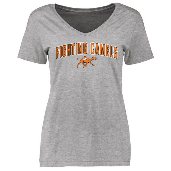 Campbell Fighting Camels Women's Proud Mascot Slim Fit T-Shirt - Ash - $21.99