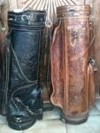 Vintage Leather Golf Bags