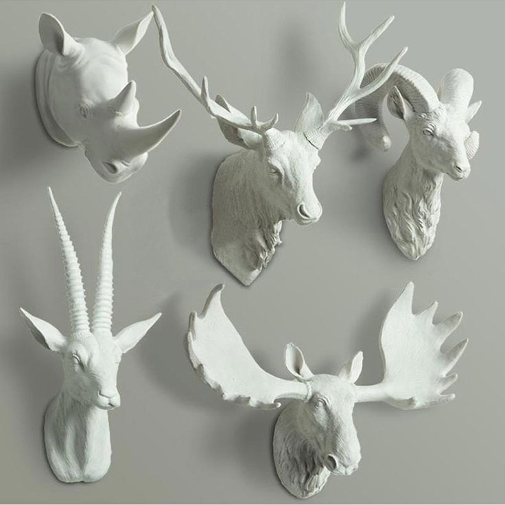 Bring a whimsical touchto your spacewith an animal bust, timeless and cruelty free.Fascinateyour childrenor guests.  Beautiful addition to the modern home! Choose your favourite style.      Material Resin   Styles  Antelope Moose Goat Deer Buck    Measurements Please see image for sizes   Total package weight 4kg