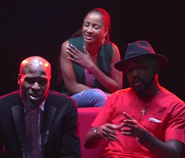 Adesua and Banky W's rap video is the cutest thing you will watch today (video)   There's no way this love will not last forever. Adesua and Banky are so nsync! Watch them rap with Ikechukwu on Accelerate TV...  Adesua rapped to Jay Z's music with backup from Banky W and Ikechukwu while Bankyrapped to Chance The Rapper music with backup from his wife. Watch below...