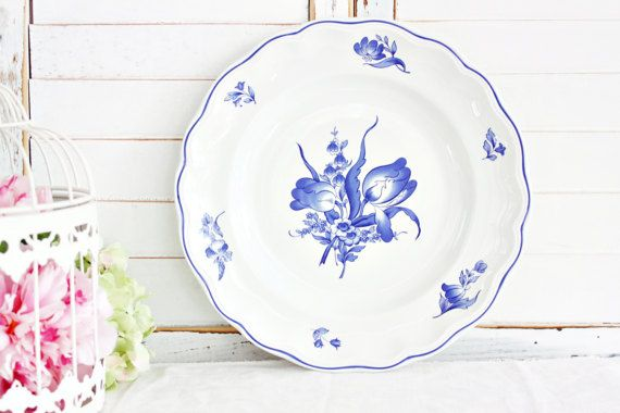 """Vintage Spode """"Fontaine"""" Dinner Plate 10 1/2"""": English Plate, Blue Transferware Plate, Spode Plate, Blue Dinner Plate, Vintage Wall Plate"""
