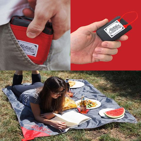 Folding up smaller than a bag of crisps (or a matchbox in the Mini's case), these compact and picnic or beach blankets are made from HyperLyte nylon. Which means they are incredibly light but still resistant to water and punctures – whether from a rogue cheese knife or sharp stone underneath.