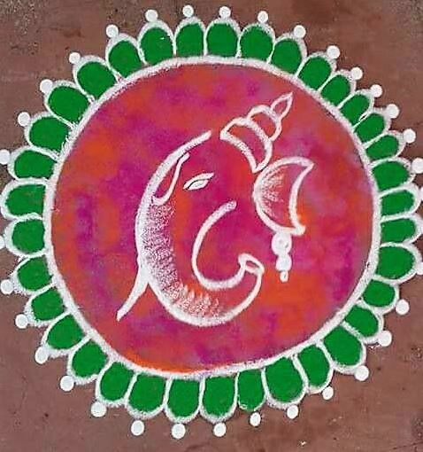 Ganpati Rangoli Design
