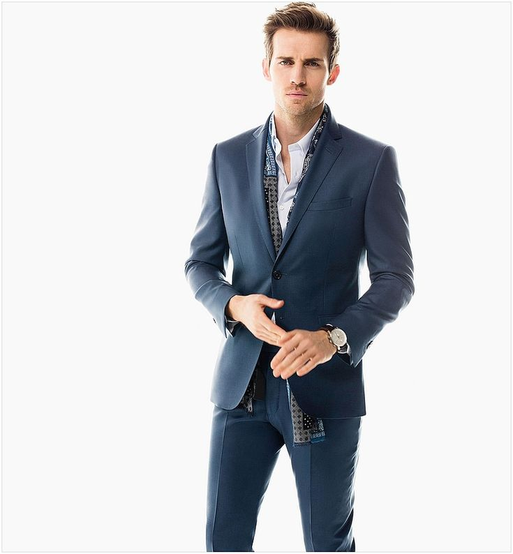 Andrew Cooper models suits for Massimo Dutti