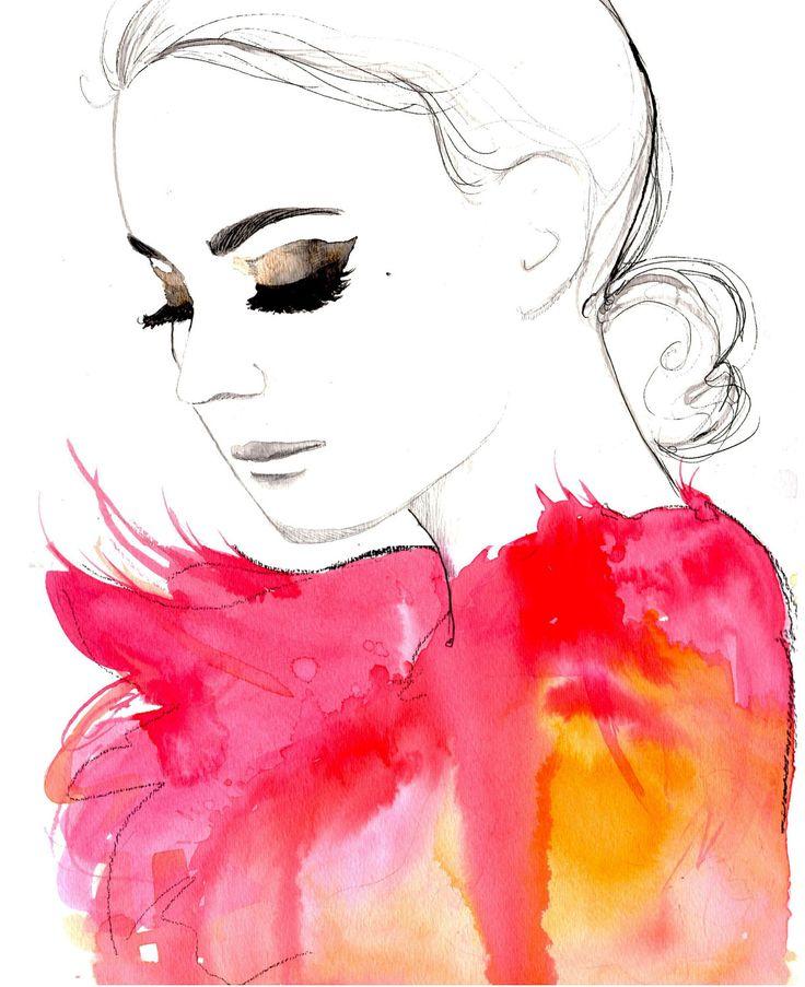 watercolor fashion print. so beautiful!