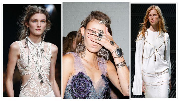 chaines de corps - De gauche à droite: Alexander McQueen, Rodarte et Calvin Klein Collection