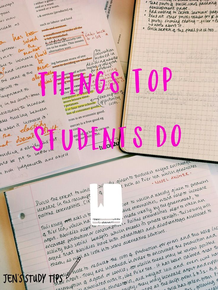 Things Top Students Do 1. They don't always do all of their homework. In college, homework assignments generally make up 5-20% of your grade, but can be the biggest time-suck for most students. Yes, working...