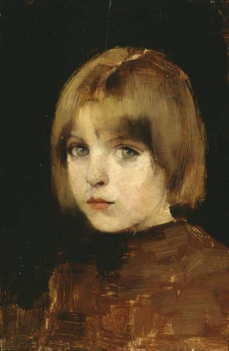 "Finnish artist Helene Schjerfbeck (1862-1946), ""Portrait of a Girl,"" 1886."