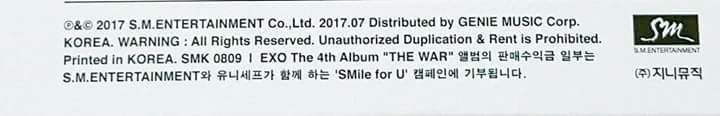 "Part of the album sale of EXO's ""The War"" will be donated to Unicef's ""Smile for U"" program 👏💞 We didn't just help EXO to achieve another milestone but also able to help people in need!"
