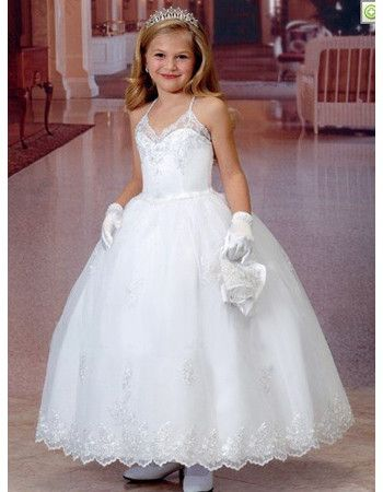 American princess communion dresses with lace