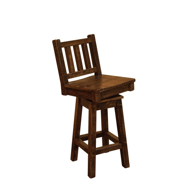 Barn Wood Style Timber Peg Swivel Bar Stool with Back - 24 or 36 inch (24 Inch) Brown (Pine)  sc 1 st  Pinterest & Best 25+ 36 inch bar stools ideas on Pinterest | 36 bar stools 26 ... islam-shia.org