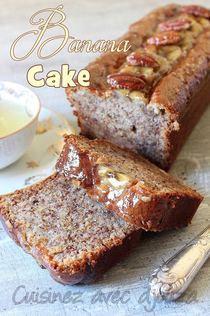 Cake aux bananes et noix de pecan