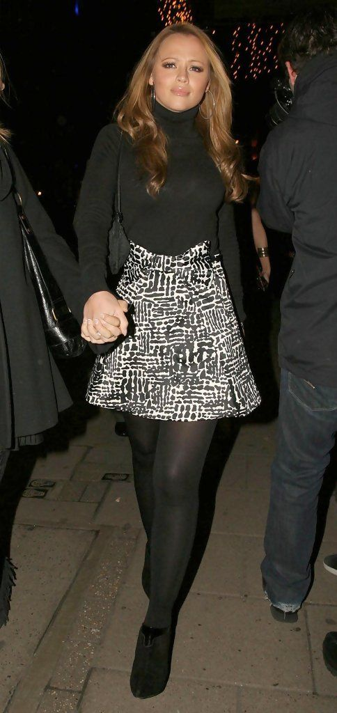 Kimberley Walsh Mini Skirt - Mini Skirt Lookbook - StyleBistro