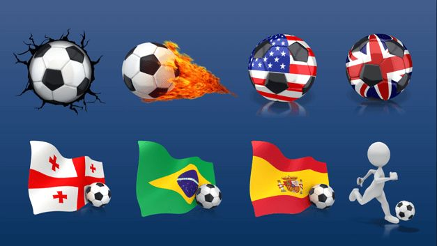 Be it the UEFA Champions League, FA Cup or the FIFA World Cup, soccer craze can be found among die hard fans throughout the year. Check out the dozens of high-quality soccer clipart images for your next presentation.