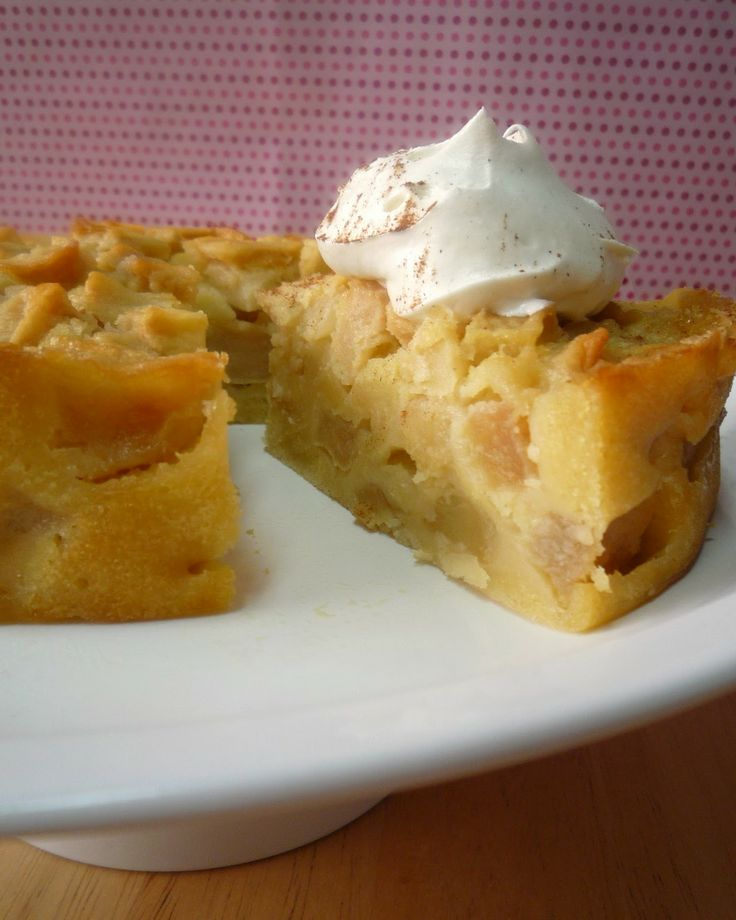 Recipe for an apple cake without butter