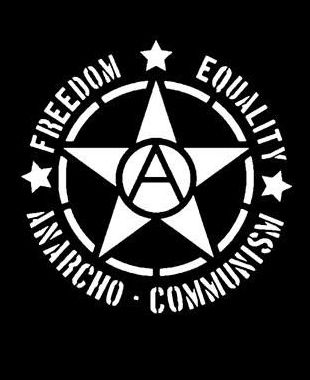 """Freedom / Equality / Anarcho-Communism""  Star T-Shirt ( #Anarchism #Revolution )"