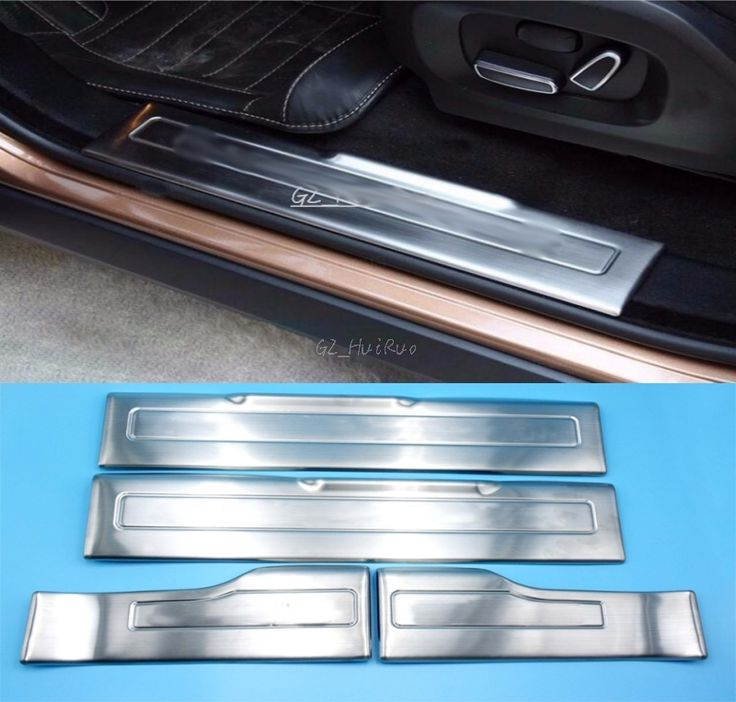 69.59$  Buy here  - Stainless Steel Door Sill Scuff Plate Pad Threshold For Range Rover Evoque 2009 2010 2011 2012 2013 2014 2015 Car styling
