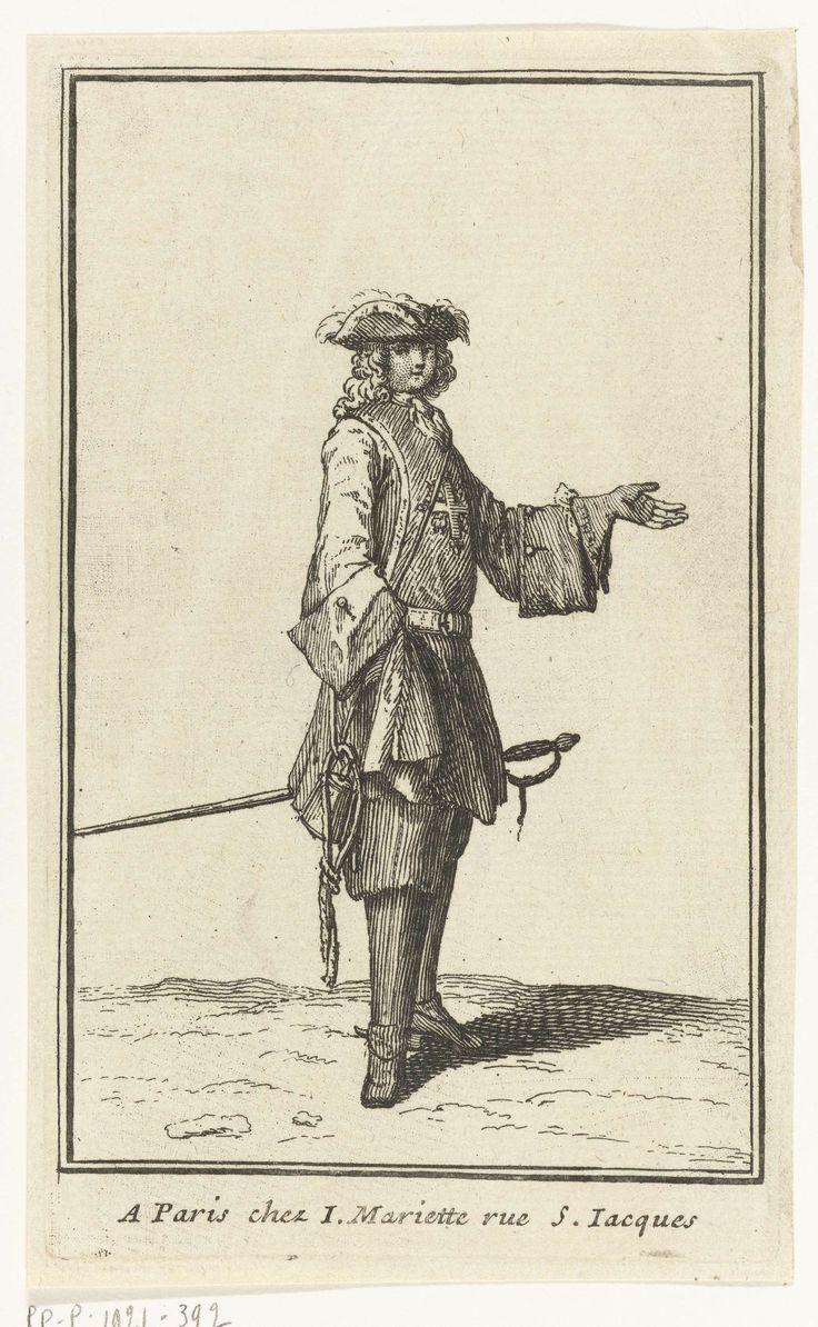 Man met degen aan zijn zijde, Bernard Picart, Jean Mariette, 1696