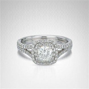 Choose this beautiful ring at Bailey Banks & BiddleNorman Silverman, Double Diamonds, Diamonds Halo, 3 8 Carat, White Gold, 18K White, Diamonds Engagement, Carat T W, Halo Engagement Rings