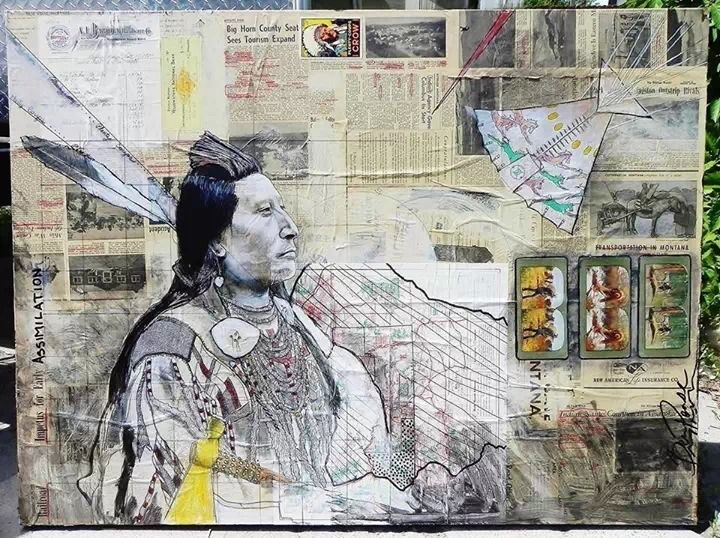 Project # 2: Metamorphosis Ledger Art  By Ben Pease, (Crow/Northern Cheyenne) benpeasevisions.com