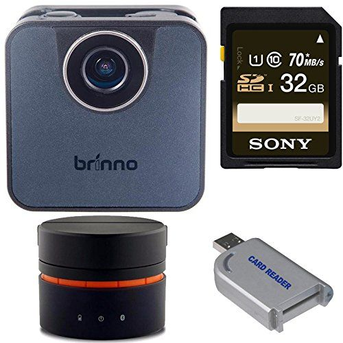 Brinno TLC120 Wi-Fi Time Lapse Camera + Brinno Pan Lapse Bluetooth Programmable Base + Memory Card + USB Reader