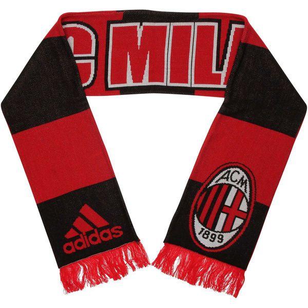 soccer jacket jersey xxl ac milan adidas jacquard knit scarf redblack ac milan away