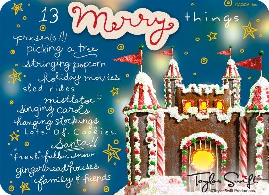 13 Merry Things Taylor Swift (Postcard) - Christmas Ecard | American Greetings