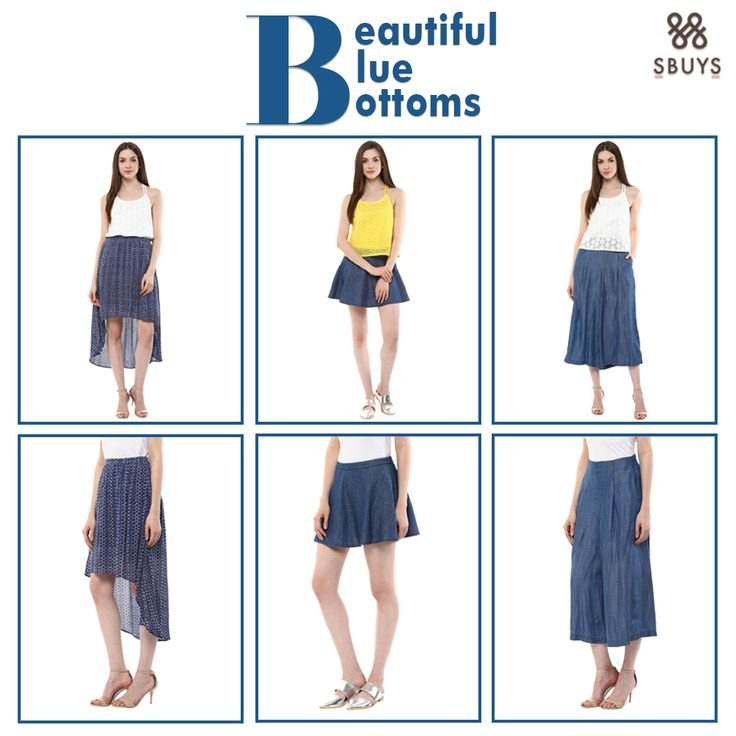 """""""Beautiful Blue Bottoms"""" Style up yourself with these SbuyS Beautiful Blue Bottoms @ www.sbuys.in  #sbuys #bluebottoms #womenswear #stylediva #latesttrends #beautifulbottoms #elegant"""