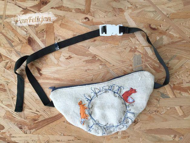 nerka saszetka z LISEM - PanFelicjan  polish embroidery, belt bag