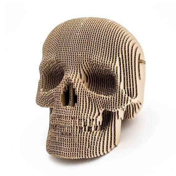 Jack Cardboard Skull - 3D Puzzle DIY Kit Paper recycled sculpture decorative Gift Diy kit original
