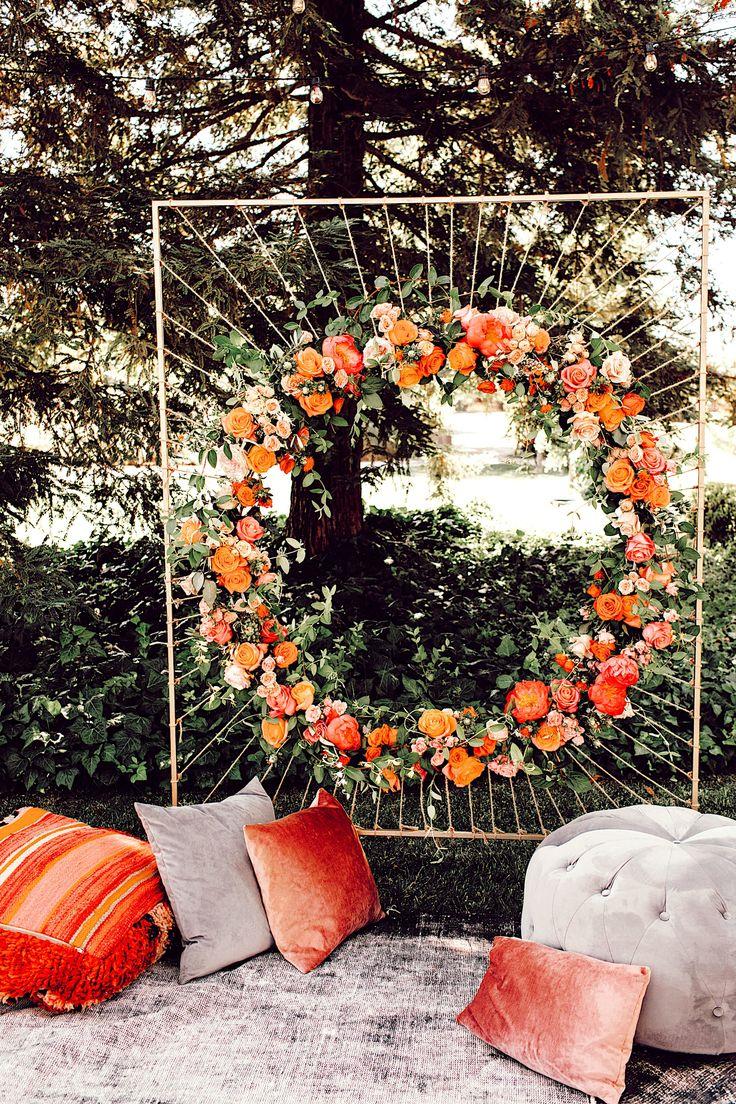 Blumenmandala | Blumenbogen | Frühlingshochzeit | Sommerhochzeit | Sommerland | Pa …   – Floral Wedding Arch