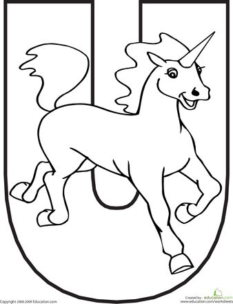 Color the Animal Alphabet... Because Unicorns are REAL animals.