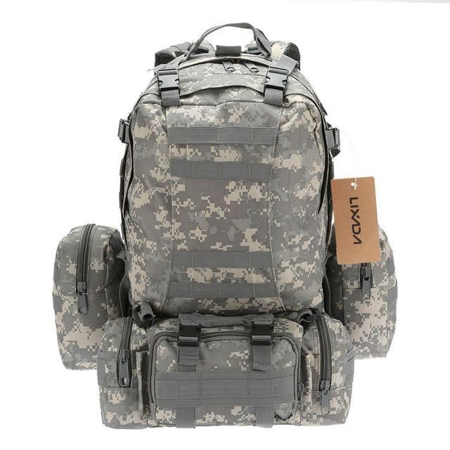 Lixada Outdoor Military Tactical Backpack Climbing Rucksack Cycling Army Bag with MOLLE Webbings Sport Camping Travel Hiking Bag