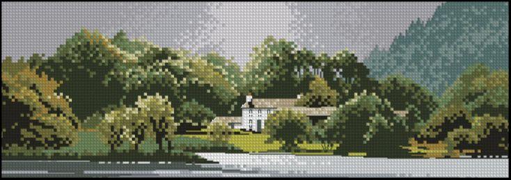 Пейзажи, Здания - схемы вышивки крестом скачать в .xsd