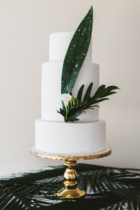 Modern Tropical Inspired Wedding // Photographers: Cari Courtright & Jessica Rankin / Venue: The Lighthouse at Glen Cove Marina / Florist: Tumbleweed Floral Truck / Hair & Makeup: Carrie Aldous / Invitations & Graphics: Euclid + Jayne / Cake: Ma Petite Maison Cake Design / Linens: Party Crush Studio / Dresses: Lovely Bride / Jewelry: Jen Leddy