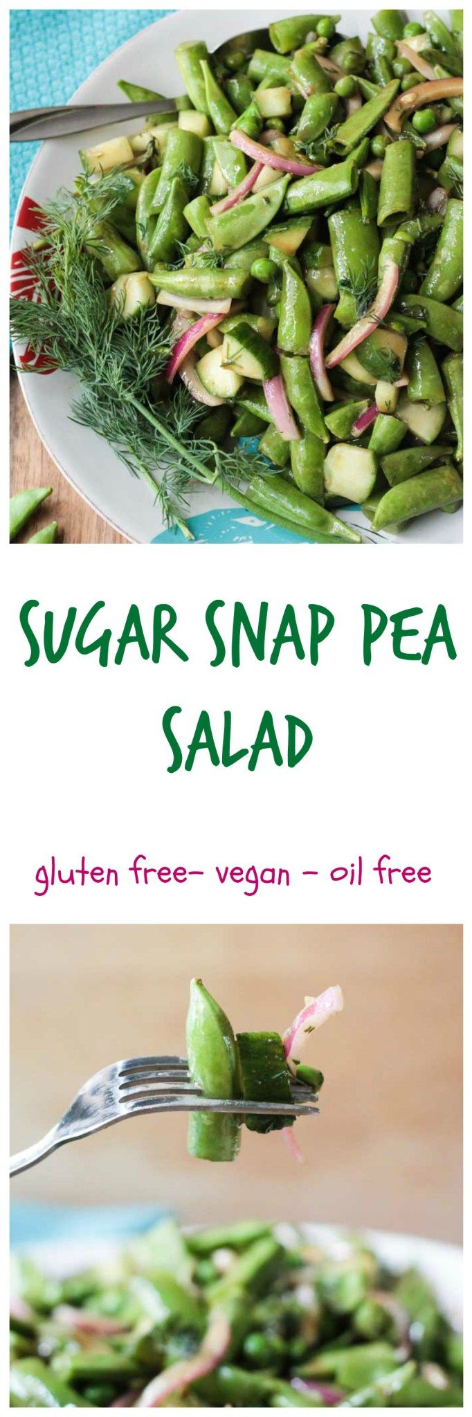 Sugar Snap Pea Salad - a crunchy addictive salad that's perfect for the summer…