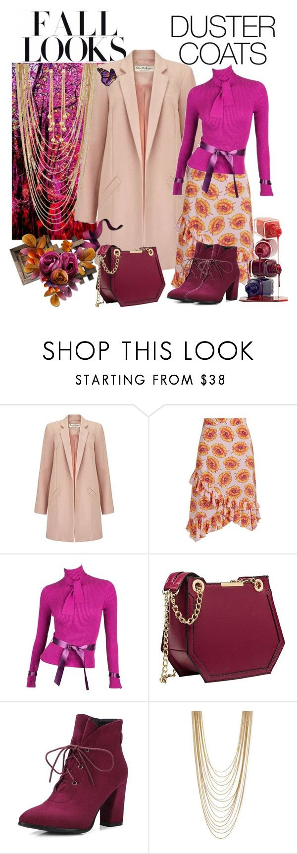 """""""fall looks"""" by daincyng ❤ liked on Polyvore featuring H&M, Miss Selfridge, Altuzarra, Karl Lagerfeld, BCBGeneration, Berry and DusterCoats"""