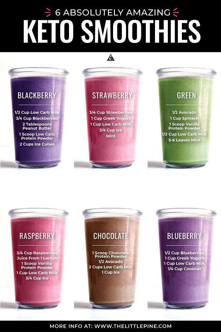 * NEU * Diese Rezepte für kohlenhydratarme Smoothies sind Smoothies, die richtig gemacht wurd…