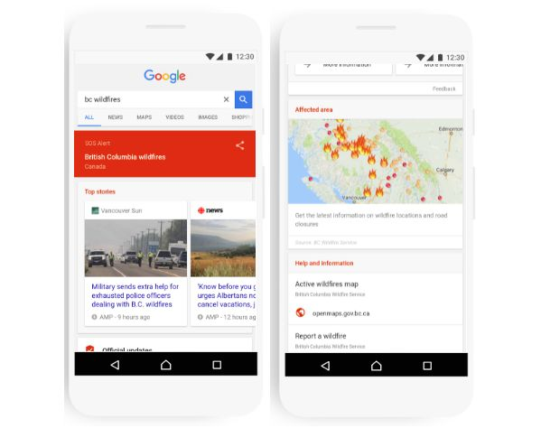 Google today debuted a newsafety tool for both Search and Maps to give youa helping hand should crisisstrike. DubbedSOS alerts, the new set of features