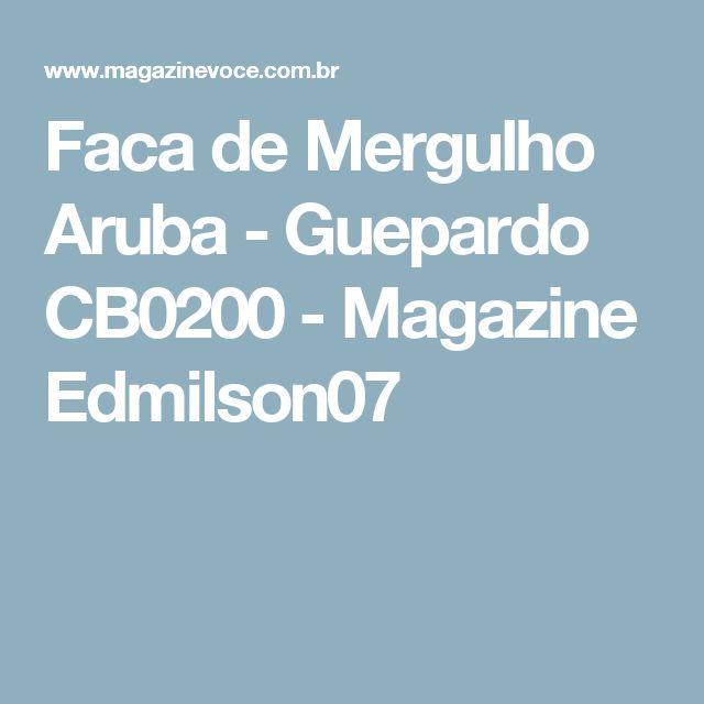 Faca de Mergulho Aruba - Guepardo CB0200 - Magazine Edmilson07