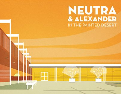 This limited edition poster for the Painted Desert Community Complex by Neutra and Alexander was created to inspire citizens to imagine the park's complex in better and more beautiful shape than it is in today.