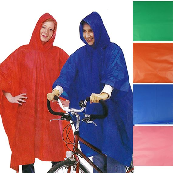 [3-Pack] Adult Waterproof Poncho with Hood - Assorted Colors