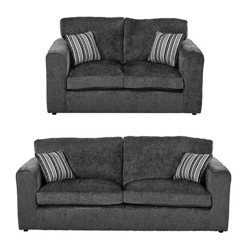 Bellbrook 2 Piece Sofa Set Charlton Home Upholstery Dark Grey Leather Sofa Set Classicliving Sofa Set
