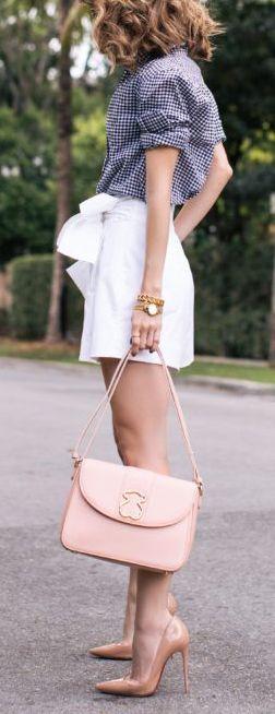 Gingham & white