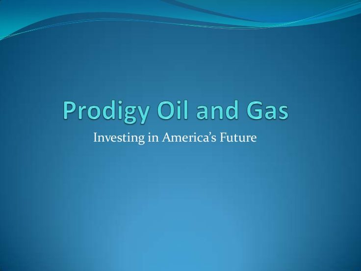 Prodigy Oil and Gas Information