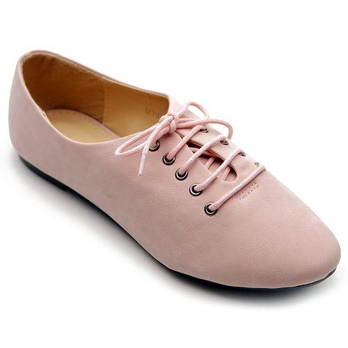 Ollio Womens Oxfords Ballet Flats Loafers Lace Ups Low Heels