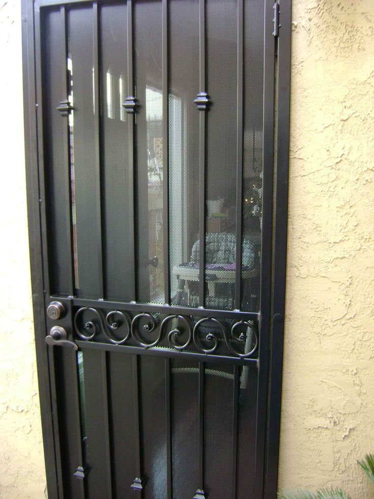 Wrought Iron Security Door Google Search Iron Entry