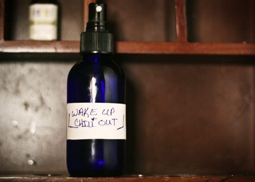 Homemade aromatherapy spray