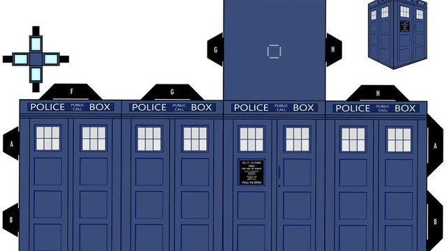 Print out and fold your own paper TARDIS and Daleks Put them